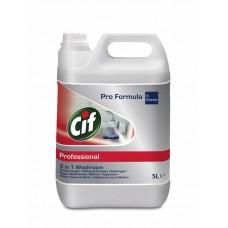 CIF PROFESSIONAL WASHROOM 2IN1 5lt - ΚΑΘΑΡΙΣΤΙΚΟ ΓΙΑ ΜΠΑΝΙΑ 2 ΣΕ 1